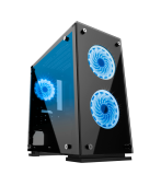 Gabinete Gamer Gamemax Hero, Mid Tower, ​​​​​​​Com 3 Fans Blue, Vidro temperado