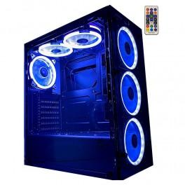 Gabinete Gamer Rise Mode Glass 06 Com 6 Fans