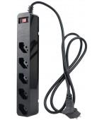 iClamper Energia 5 Tomadas - Filtro de Linha + DPS - Preto